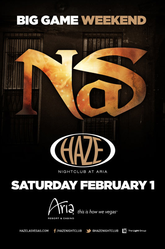 Nas at Haze Nightclub
