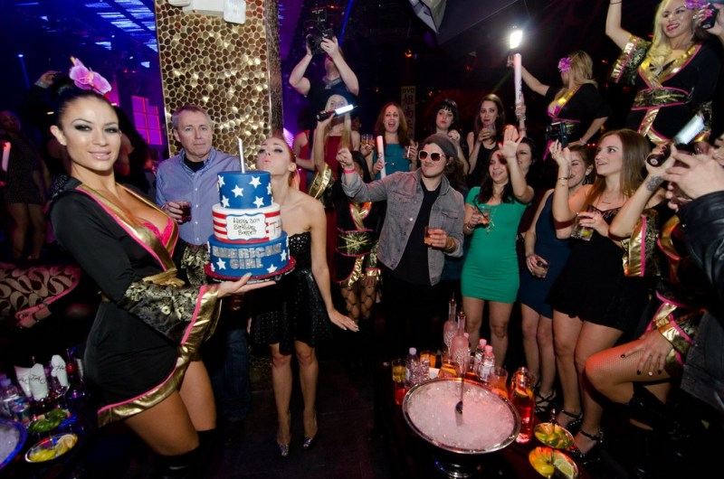 Bonnie McKee with Birthday Cake at TAO