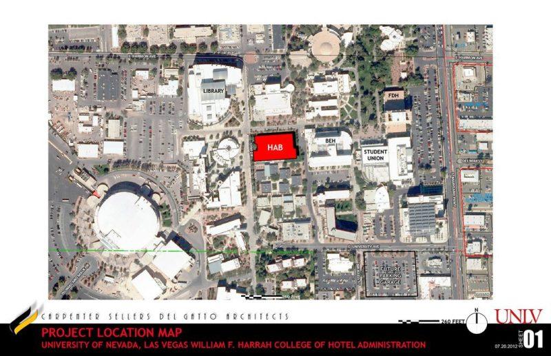 UNLV Hospitality Hall Map