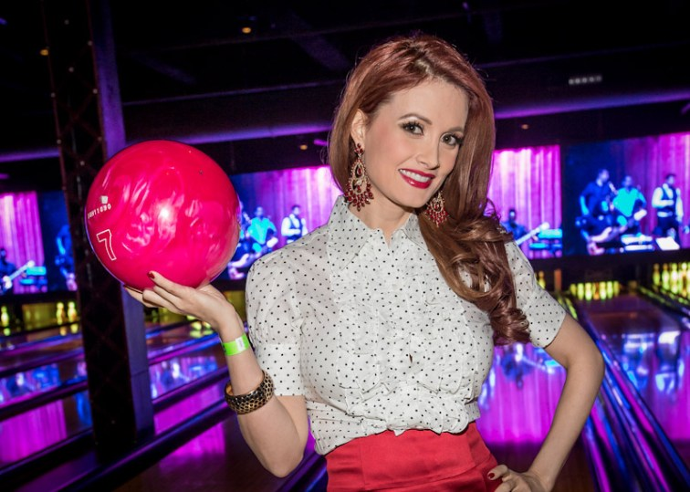 Holly Madison at Brooklyn Bowl Las Vegas