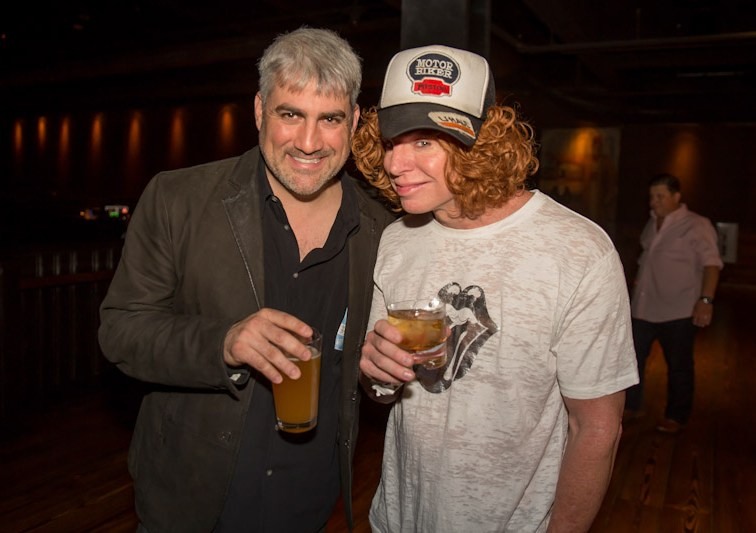 Taylor Hicks & Carrot Top at Brooklyn Bowl Las Vegas at The Linq on March 29, 2014