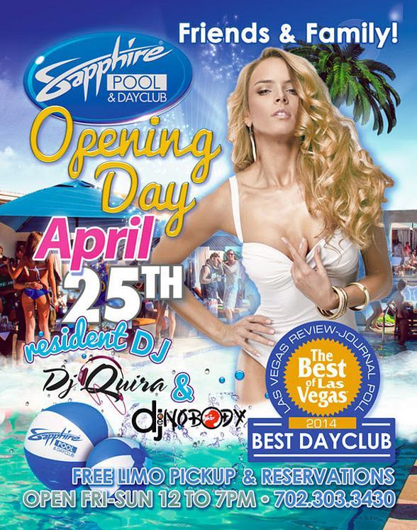 Sapphire Las Vegas Opening Day