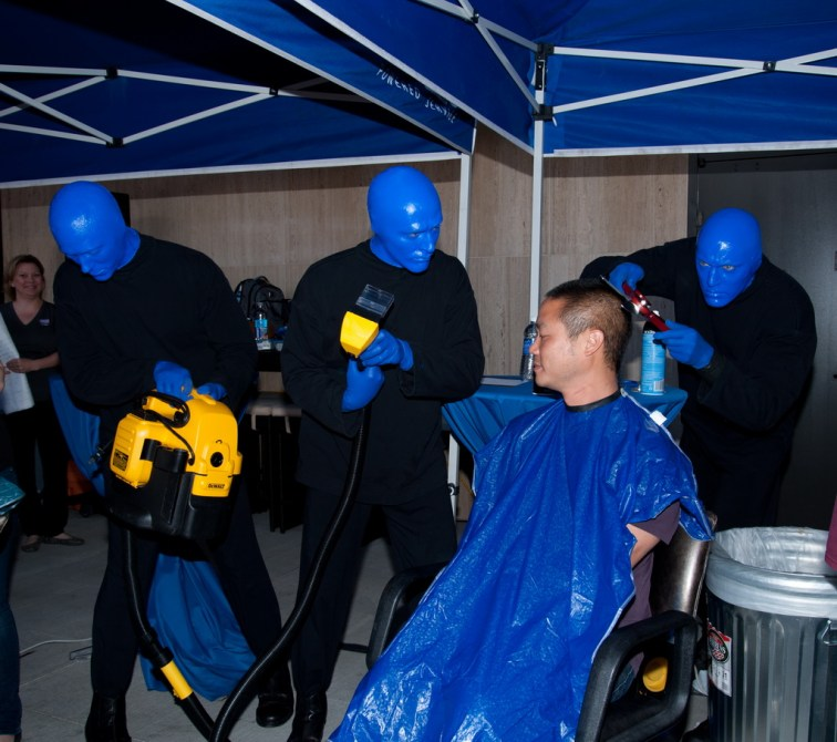 Blue Man Group ShoeZaphone Unveiling