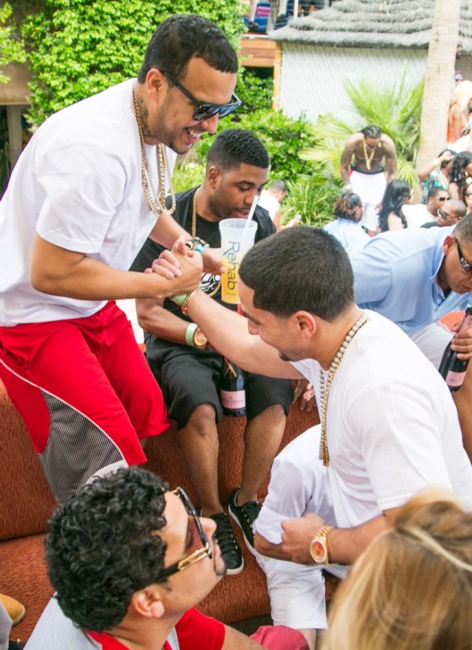 French Montana and Danny Garcia at REHAB