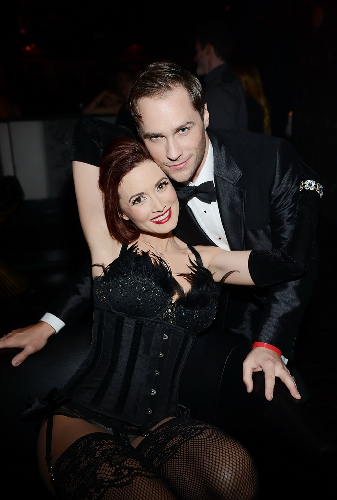 Holly Madison & Josh Strickland at 1923 Bourbon & Burlesque