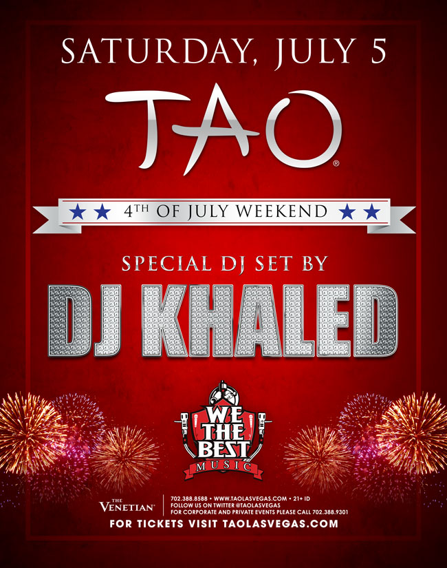 DJ Khaled at TAO Nightclub