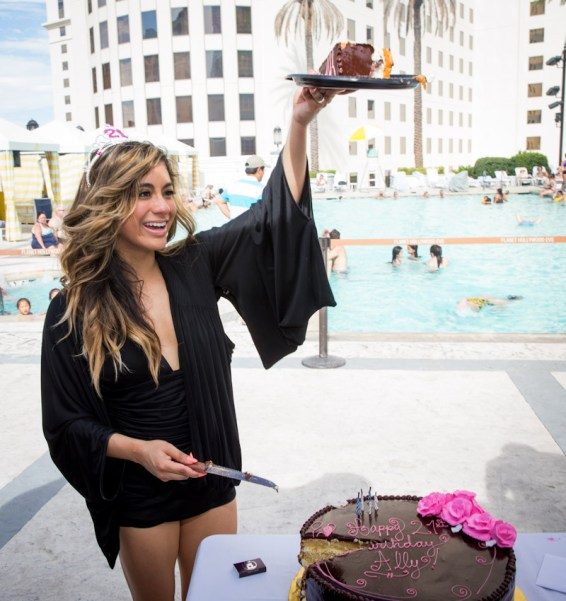 Ally Brooke Hernandez at Planet Hollywood Resort Pool