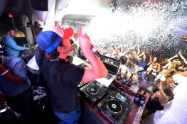Brody Jenner spins some sets in the DJ booth at Hyde Bellagio