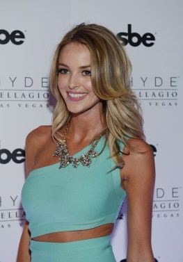 Kaitlynn Carter poses for a photo on the red carpet at Hyde Bellagio