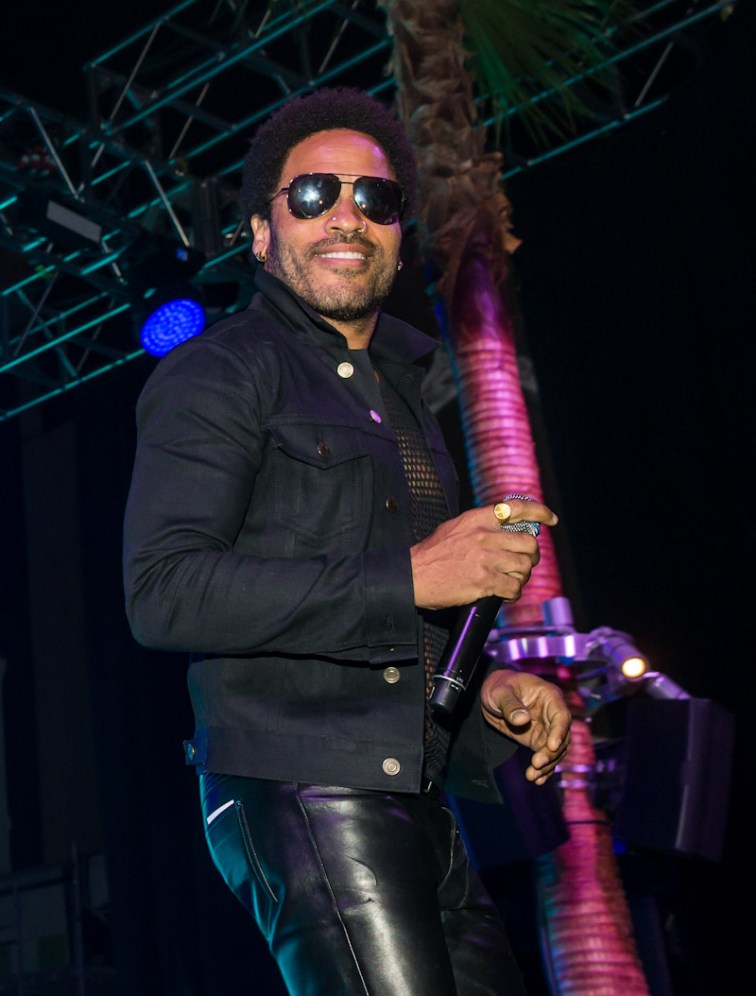 Lenny Kravitz at SLS Las Vegas Grand Opening