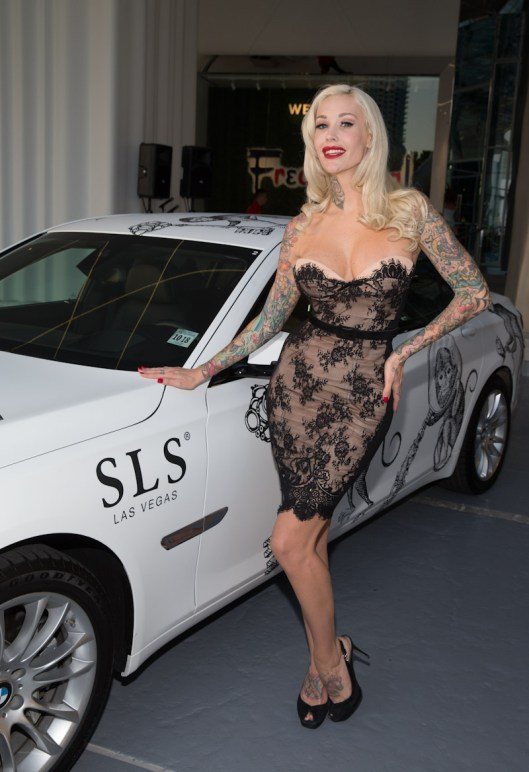 Sabina Kelley at SLS Las Vegas Grand Opening