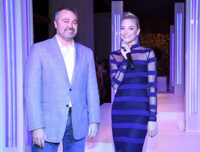 Matthew Chilton and event host Jaime King