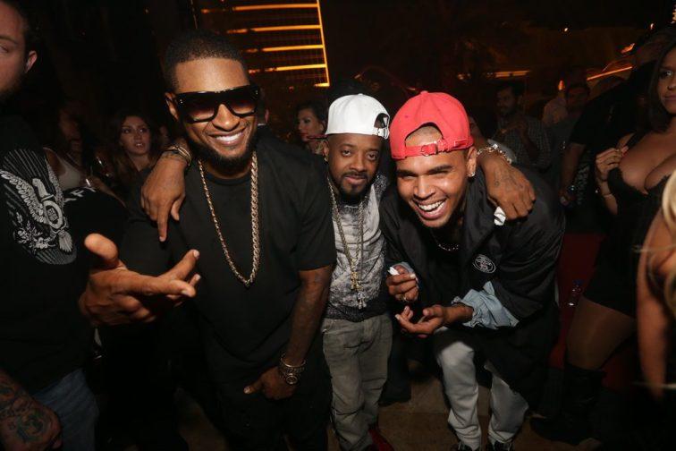 Usher, Jermaine Dupri, and Chris Brown XS