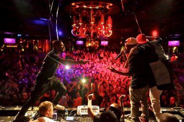 Usher, Jermaine Dupri, and Chris Brown at XS
