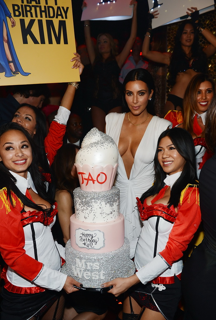 Kim Kardashian West Celebrates 34th Birthday at TAO Las Vegas
