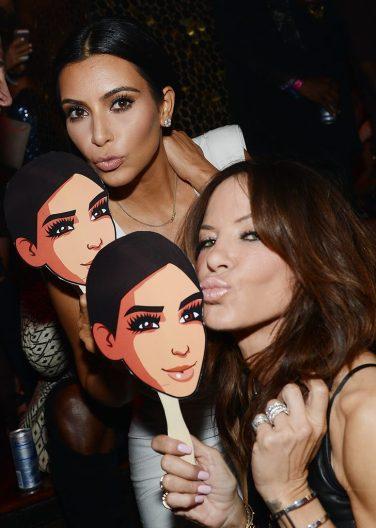 Kim Kardashian West and Robin Antin at TAO Las Vegas