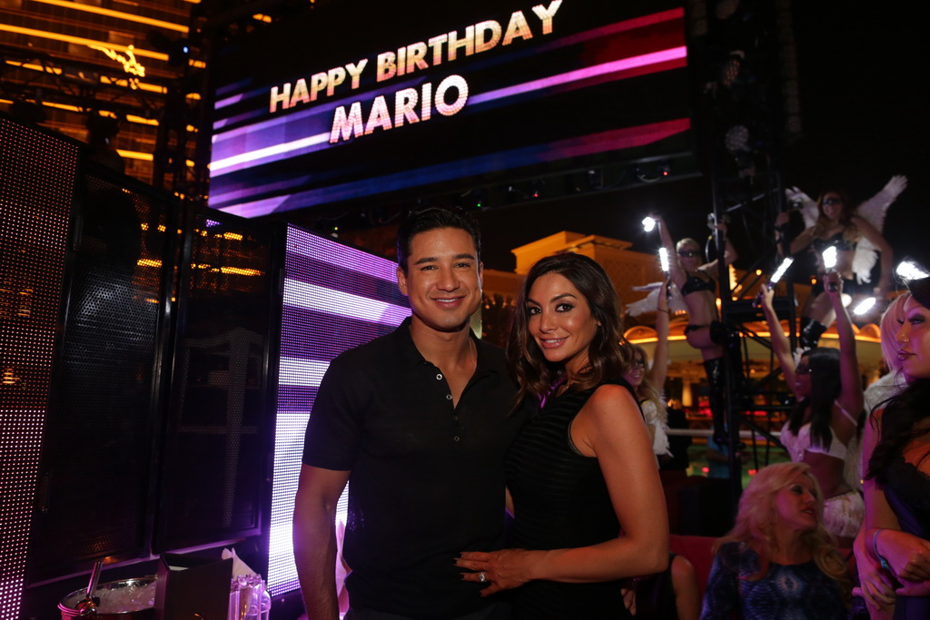 Mario Lopez and wife Courtney at XS nightclub