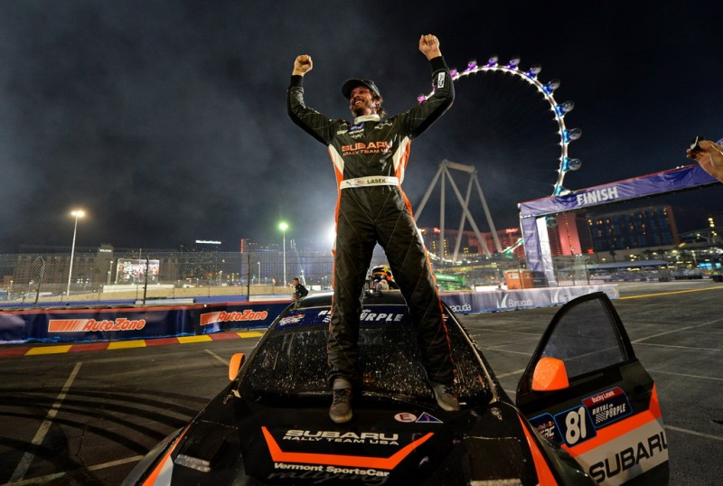 Subaru of America Inc Bucky Lasek After Win