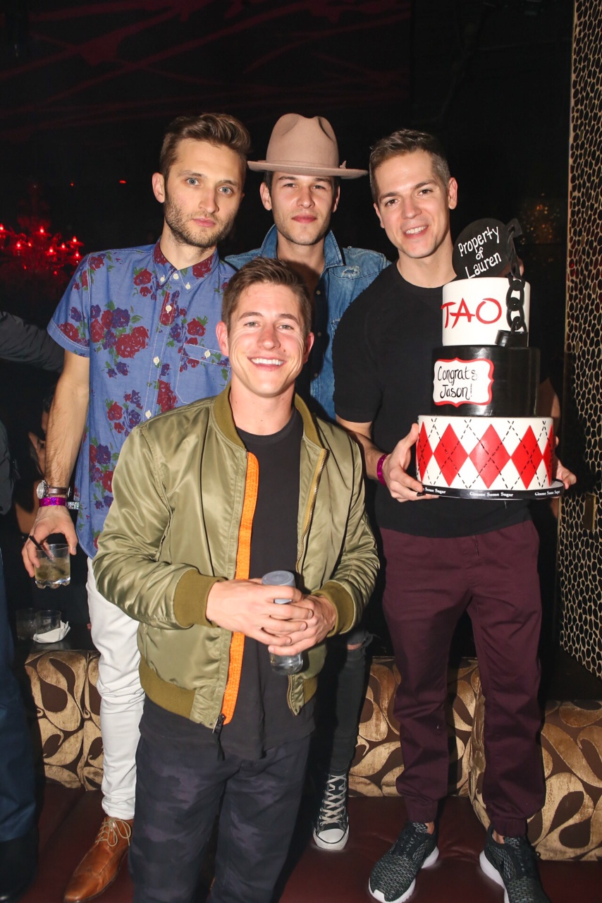 Jason Kennedy celebrates his bachelor party at TAO with friends