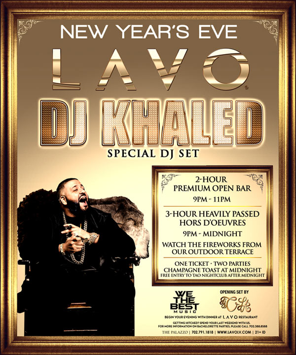 DJ Khaled at LAVO Nightclub