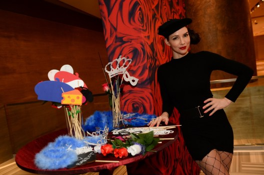 A model poses in the photo booth at BARDOT's grand opening 1.15.15