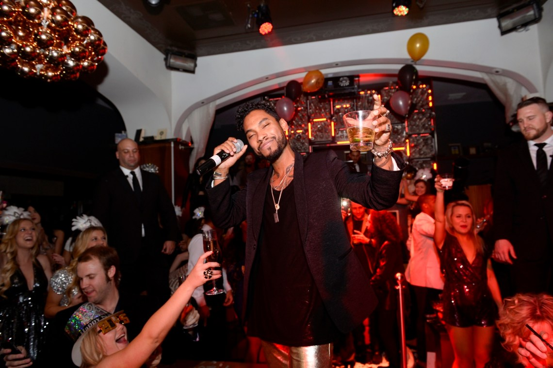 Miguel performing at Hyde Bellagio, Las Vegas 12.31.14