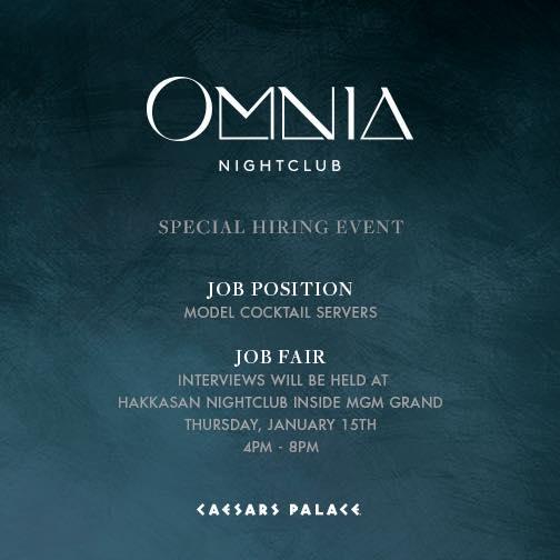 Omnia Nightclub Hiring