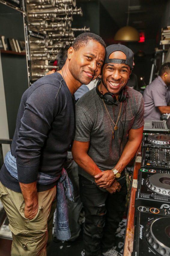 Cuba Gooding Jr. and DJ Miles at Hyde Bellagio