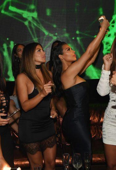 Kim Kardashian West Hosts A Night Out At Hakkasan Las Vegas Nightclub Inside MGM Grand
