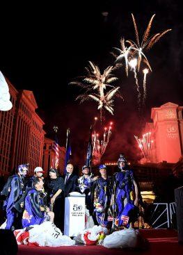 Red Bull & Fireworks at Caesars Palace