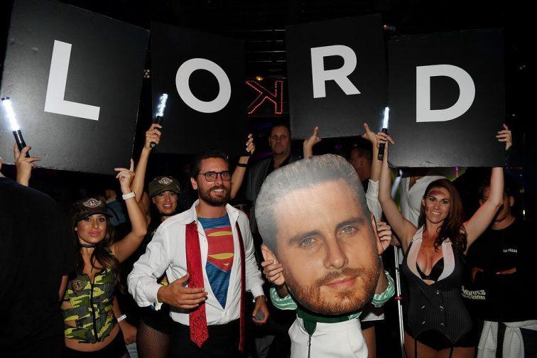 Scott Disick at 1 OAK Las Vegas for Halloween 2016
