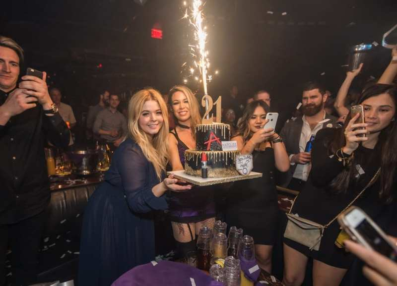 Sasha Pieterse Celebrates Her Birthday at Marquee Nightclub