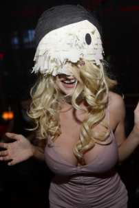 Courtney Stodden with Pinata on Head