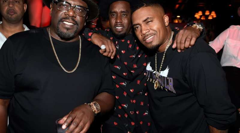 "Cedric The Entertainer, Sean Diddy Combs & Nas at Sean ""Diddy"" Combs, Mark Wahlberg, and Stephen Espinoza host Double or Nothing Welcome to Fight Weekend Kick-Off Powered by CÎROC"