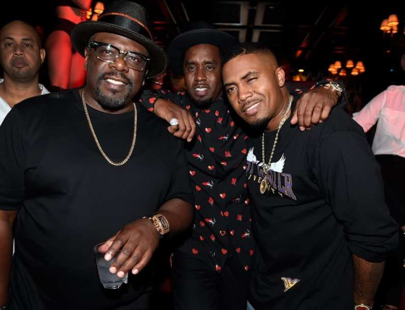 """Cedric The Entertainer, Sean Diddy Combs & Nas at Sean """"Diddy"""" Combs, Mark Wahlberg, and Stephen Espinoza host Double or Nothing Welcome to Fight Weekend Kick-Off Powered by CÎROC"""