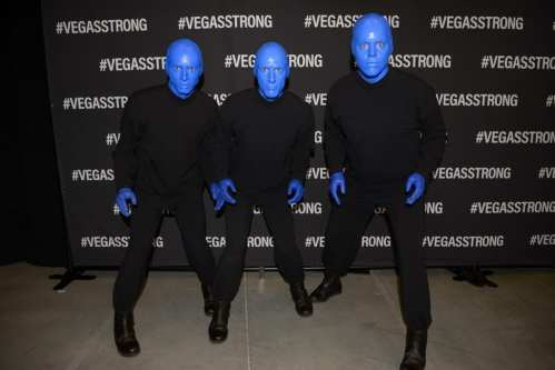 Blue Man Group at Vegas Strong Benefit Concert