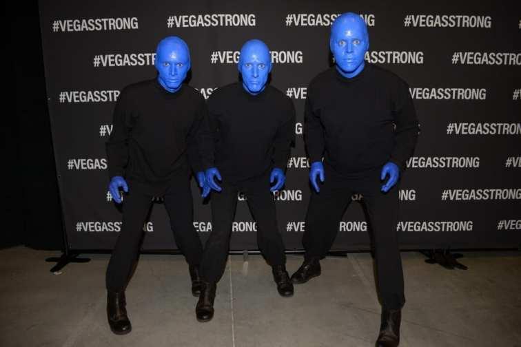 Blue Man Group at Vegas Strong Benefit Concert