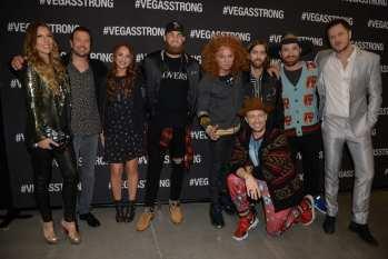 Celebrites at Vegas Strong Benefit Concert