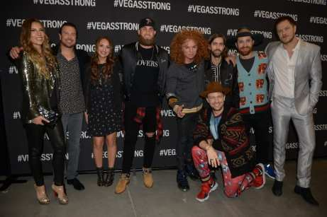 Celebrites at Vegas Strong Benefit Concert