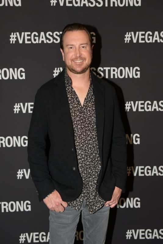 Kurt Busch at the Vegas Strong Benefit Concert