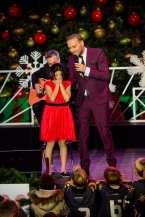 Matt Goss pulls a fan on stage
