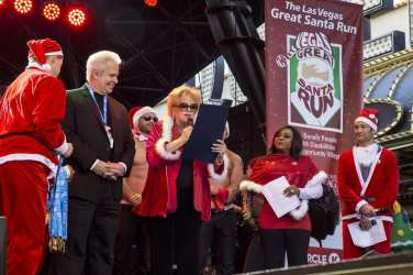 Mayor Carolyn Goodman delivers proclamation to Opportunity Village