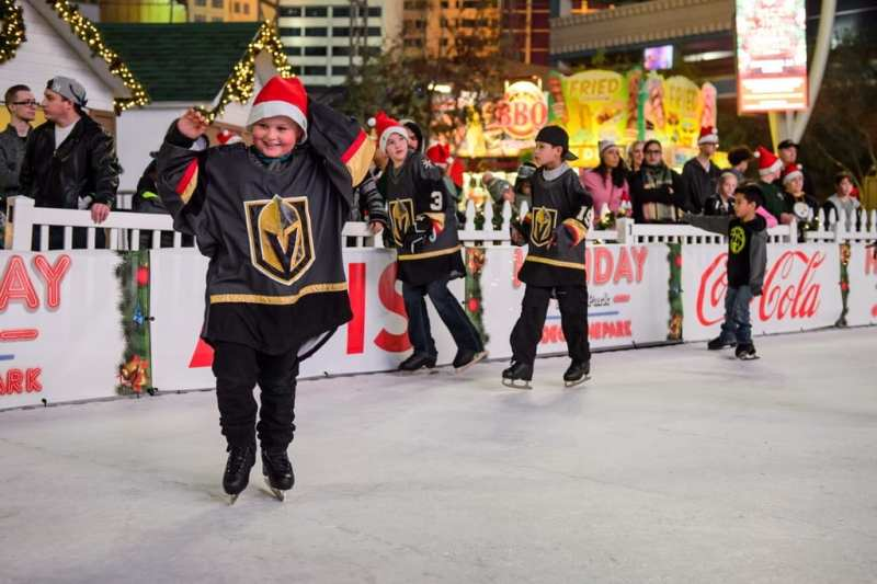 Vegas Jr. Knights go skating