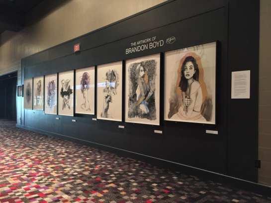 Brandon Boyd Art Display Credit Hard Rock Hotel & Casino LV
