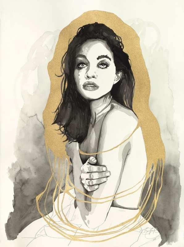 Nicole In Gold - Credit Brandon Boyd