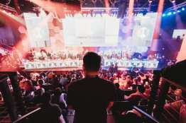 Esports Arena Las Vegas inside Luxor Hotel and Casino opened March 22, 2018 with multiple show matches and a packed crowd