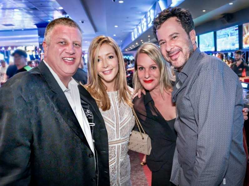 Finnigan and Silverman were seen hanging out with Owner of the D Las Vegas, Derek Stevens and his wife, Nicole, at the casino's renowned LONGBAR.