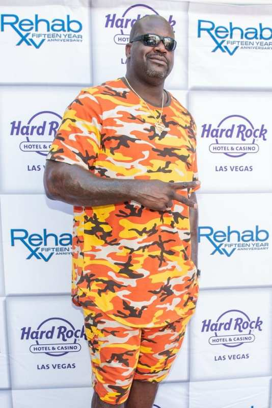 Shaquille O'Neal AKA DJ Dieselat Rehab Beach Club