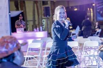 Las Vegas Fashion Council - Host Courtney Perna entertains the crowd. Photo Credit_ Joel Cada