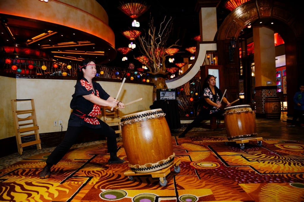Taiko Drummers perform at Su Casa opening ceremony